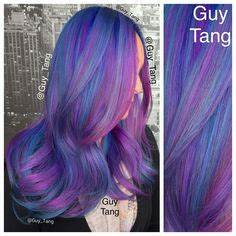 Purple blue and pink hair Hair Pinterest