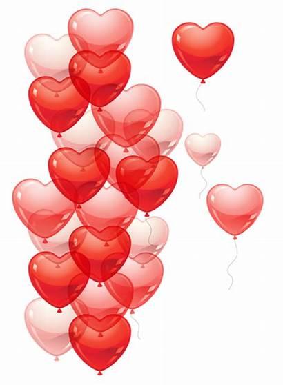 Heart Transparent Hearts Bubbles Clipart Valentine Baloons