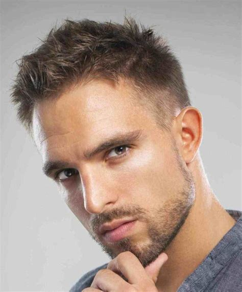very short hairstyles for men long face Thin hair