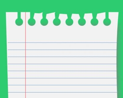 notebook paper graphic powerpoint