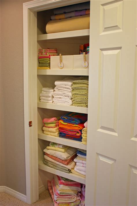 The Linen Closet by Organized Linen Closet The Side Up