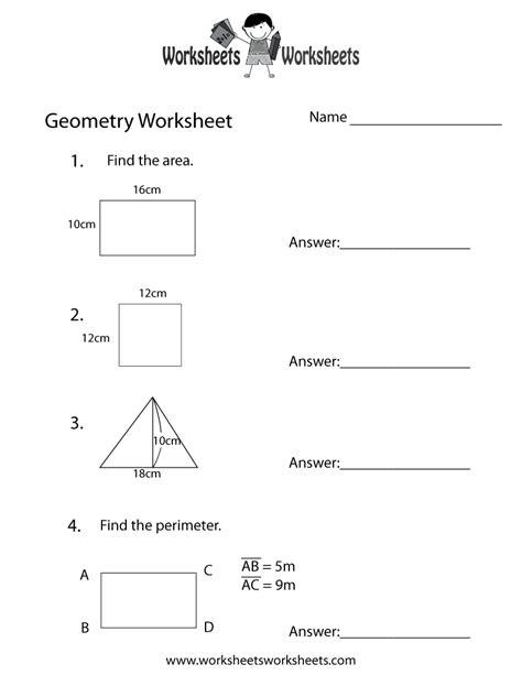 worksheets geometry review worksheets cheatslist free