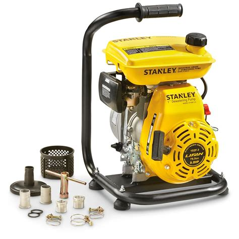 """Stanley 3hp Portable Utility Water Pump, 1"""" With 34"""" Hose"""