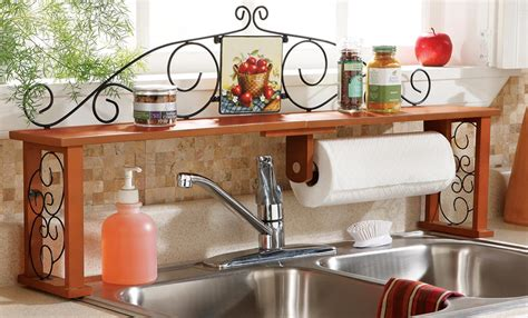 Red Over The Sink Shelf by 6 Simple Steps To Conquer The Kitchen Clutter