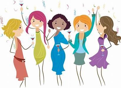 Ladies Night Clip Party Clipart Wine Fun