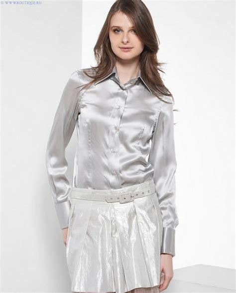 silver blouse silver satin silk blouse silk pintuck blouse