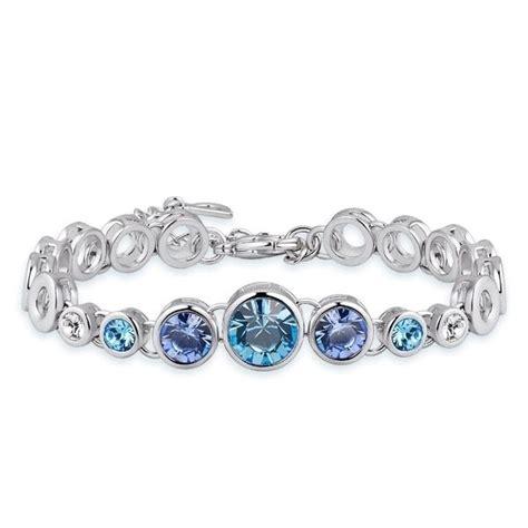 bracelet swarovski bleu bracelet en cristal de swarovski elements bleu