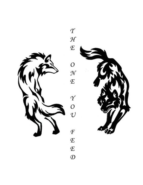 Best 25+ Two wolves tattoo ideas on Pinterest   Chest