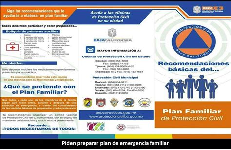 plan de emergencias familiar piden preparar plan de emergencia familiar