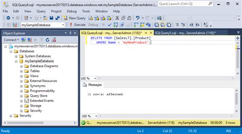 sql query to create table ssms connect and query data in azure sql database