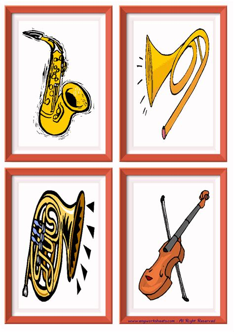 nifty printable pictures  musical instruments regina blog