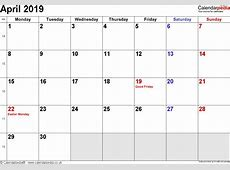 April 2019 Calendar With Holidays UK 2018 calendar with