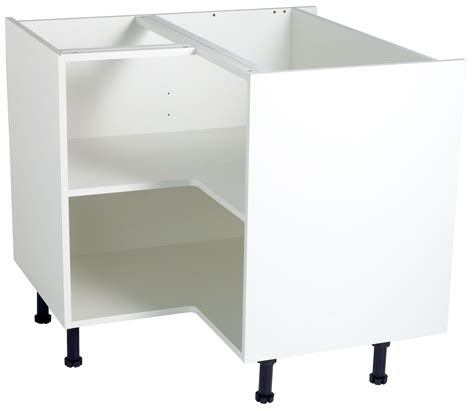 kitchen sink base unit carcass cooke lewis white standard corner base cabinet unit 8444