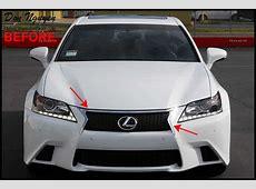 Lexus GS350 F Sport Sedan Tinted tail lights, plasti