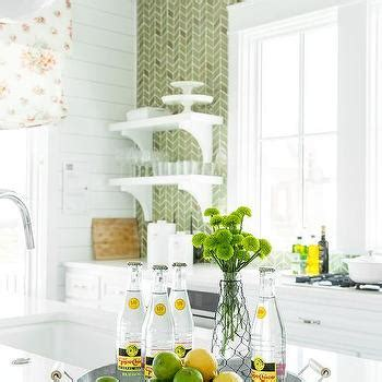 Sacks Kitchen Backsplash by Green Herringbone Tiles Backsplash By Sacks