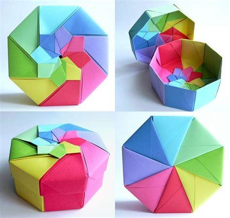 Rainbow Octagonal Flower Top Box Tomoko Fuse Origami