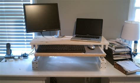 build your own adjustable standing desk 21 diy standing or stand up desk ideas guide patterns