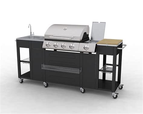 barbecue complet inox incorporé dans un meuble de cuisine