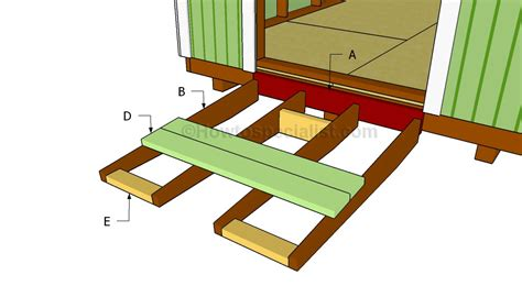 Step By Step Deck Building Instructions how to build a shed ramp howtospecialist how to build