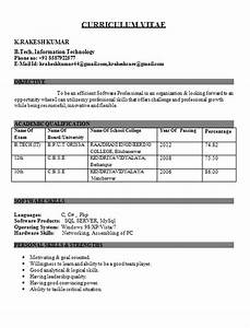 resume templates With sample resume for fresher mechanical engineering student