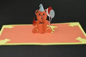 Teddy bear pop up card template creative pop up cards for Teddy bear pop up card template free