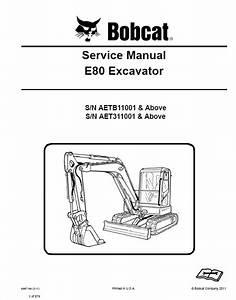 Bobcat E80 Excavator Service Manual Pdf