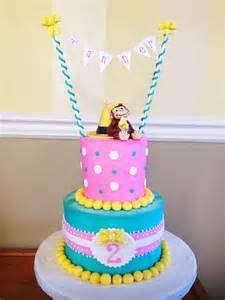 Curious George Girl Birthday Cake