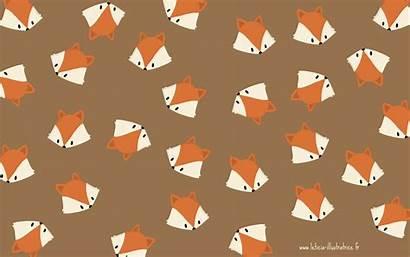 Fall Patterns Ordinateur Fox Ordi Autumn Goodies