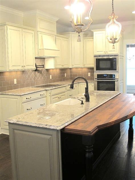 kitchens with cabinets and countertops white glazed cabinets minka lighting bianco antico 9854