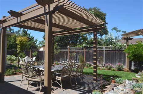 backyard pergola shade structures traditional patio