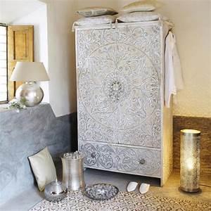 Maison Du Monde Armoire : armoire en manguier massif blanche et argent e maison du ~ Melissatoandfro.com Idées de Décoration