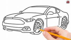 How to Draw a Mustang Car Step by Step Easy for Beginners – Simple Mustang Drawing Tutorial ...