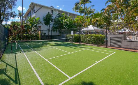 half size tennis court facilities bay lodge apartments