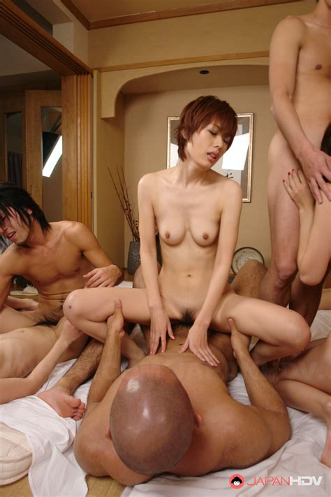 Busty Japanese Orgy