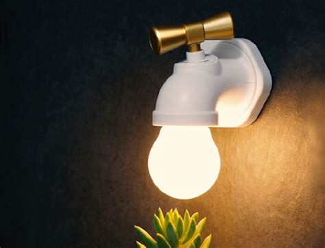 faucet shaped led night lamp gadget flow