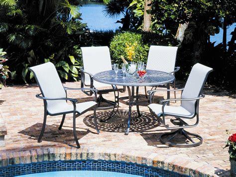 suncoast patio furniture dealers suncoast basketweave cast aluminum 48 dining table