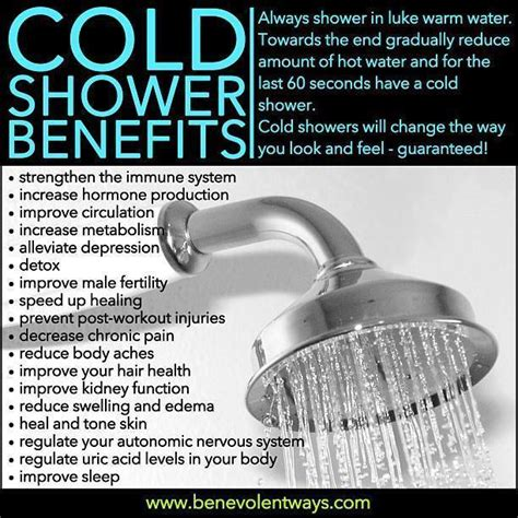 Benefits Of Cold Showers by Cold Shower Benefits Adventist