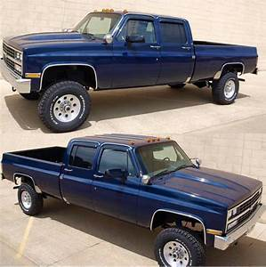 89 U0026 39  Chevy Scottsdale 2500 Crew Cab Long Bed  With Images