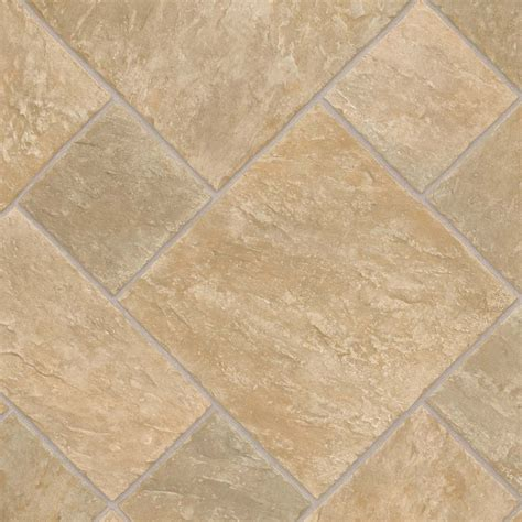 vinyl flooring at lowes shop ivc 13 167 ft w venturi 532 tile low gloss finish sheet vinyl at lowes com