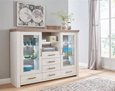 set   musterring highboard york typ  pino
