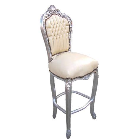 chaise simili cuir chaise de bar de style baroque tissus simili cuir beige et