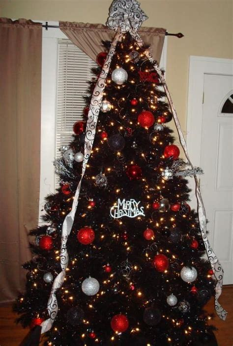 ideas  black christmas trees  pinterest
