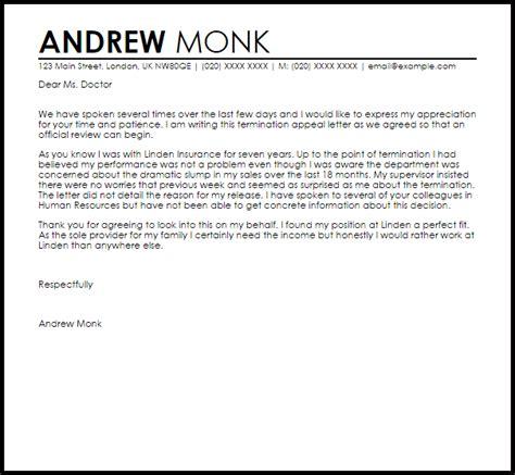 termination appeal letter  letter samples templates