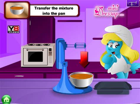 jeux jeux de cuisine jeu schtroumpfette cuisine