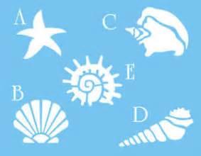 Beach Themed Bathroom Decor Ebay by Stencil Seashell Starfish Snail Conch Spike Fan Shape
