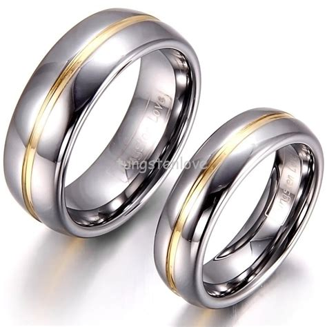 1 Piece Mens Womens Couple Gold Inset Tungsten Carbide. Round Wedding Rings. 0.5 Carat Engagement Rings. Low Profile Engagement Rings. Core Rings. Police Rings. June Birthstone Wedding Rings. Rare Antique Engagement Engagement Rings. Birth Harry Engagement Rings