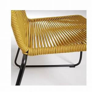 Chaise De Jardin Metal : chaise de jardin vintage en m tal et cordes amirah by ~ Dailycaller-alerts.com Idées de Décoration