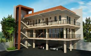 3 Story Building 3 Storey With Roofdeck Commercial Building Elizabeth Designs