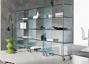 Tonelli Libreria Glass Shelving Unit Tonelli Design