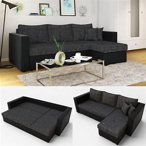 Couch Mit Großer Liegefläche : ecksofa mit schlaffunktion anthrazit schwarz ~ Bigdaddyawards.com Haus und Dekorationen